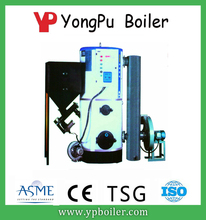 Hand feeding working simple vertical biomass fired thermal oil boilers