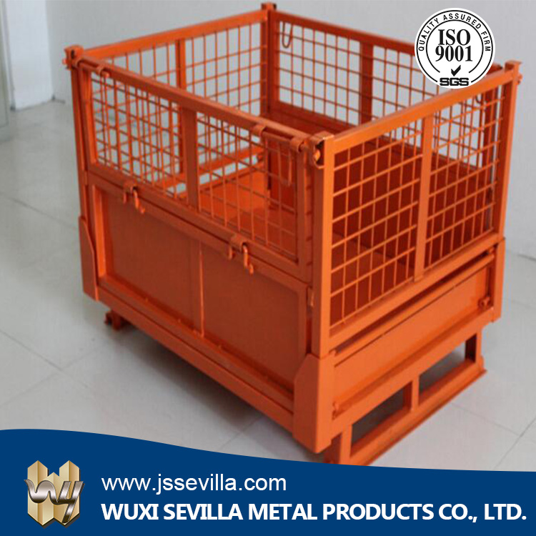 Large Welded Wire Mesh Folding and Safety Iron Storage Cage