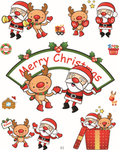 Christmas Decoration Removable Glass Window Transparent Stickers Free
