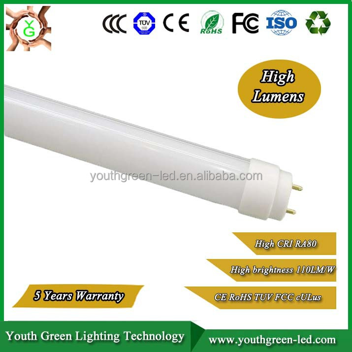 CE ROHS LVD EMC FCC approved t5 tube light 890mm led replacement 500w halogen 130lm/w CRI>83 t8 led tube