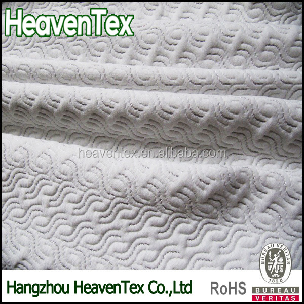 100% Polyester Double Knitted Mattress Ticking Fabric