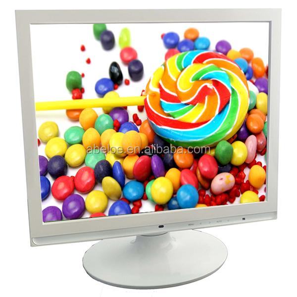 "Flat Screen Panel Computer PC VGA LCD 17"" Inch Desktop Monitor with DC 12V"