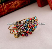 Colourful Resin Peacock Bangle Bracelet Jewellery