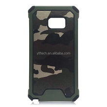 2017 Hot cartoon camouflage Pc TPU leather anti-skip shock proof phone case for Samsung S7 EDGE