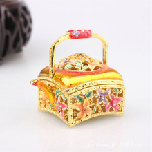 Flower girl baskets manufacturers metal jewelry box wedding favors WS3916