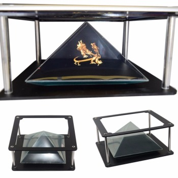 Holographic display mini 3d hologram pyramid projector
