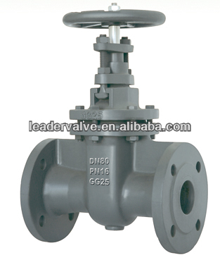 Flanged ends non-rising stem gate valve