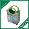 NEW DESIGN GOOD QUALITY FANCY SHOPPING PAPER BAGS WITH PLASTIC HANDLE