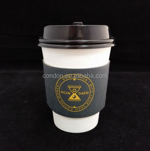 Custom shaped hot paper coffee cup sleeve