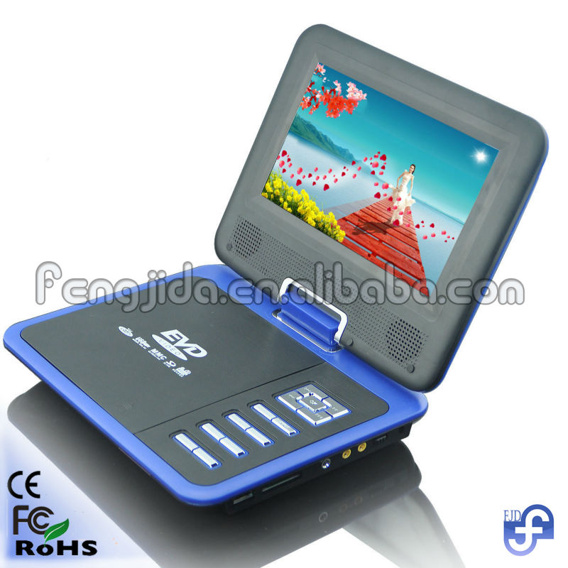 7inch dvd with folding tv screen portable dvd
