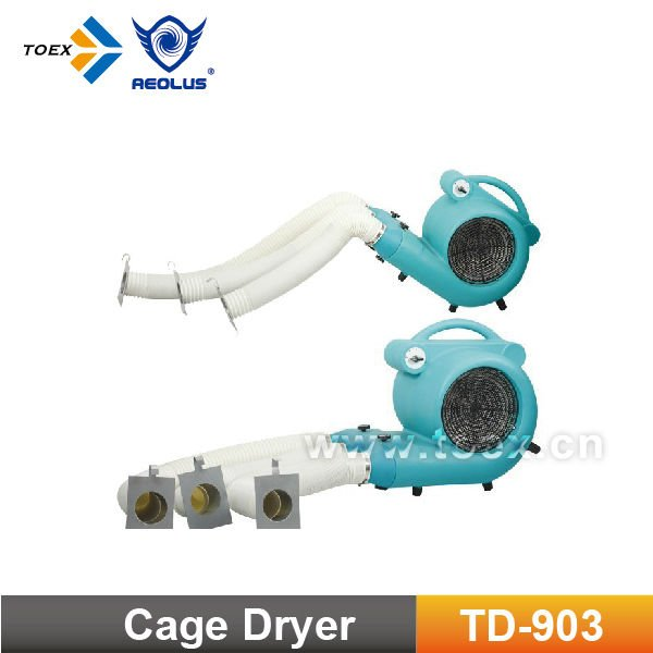 Wholesale direct factory brushless 3 speed controlable wall mounted Dog cage Dryer TD-903