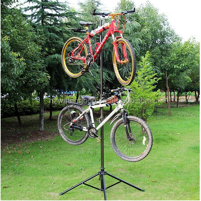High Qualllity Metal Bike Stand/Bicycle Rack for Storage or Display Holds Two Bicycles Rack