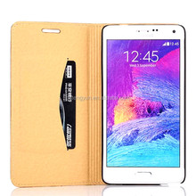 Folio mobile phone wallet case,For Samsung Galaxy Note 4 Case