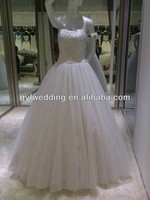 Real sample no train too much beading free shipping wedding dress 35074