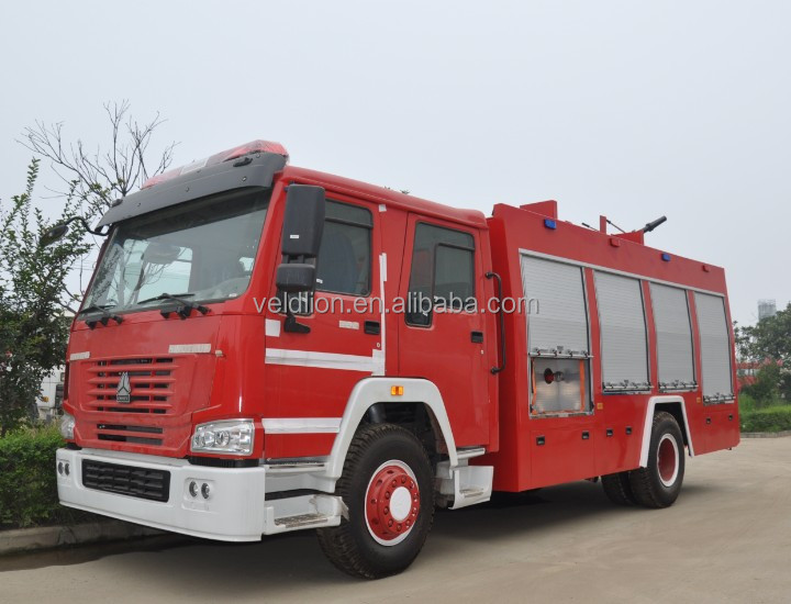 4X2 HOWO 12000 litre fire truck manufacturers europe