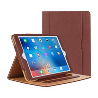 Leather Folio Multiple Viewing Angles Card Pocket Stand Case for iPad 10.5