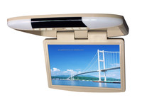 14 inch TFT LCD car roof mount monitor, car flip down monitor with IR wireless headphone transmitter
