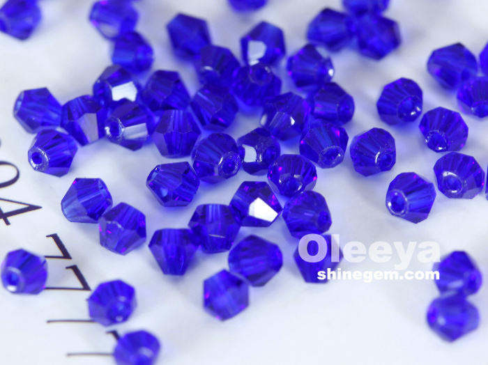 Factory Wholesale Fashionable 4mm Crystal Loose Beads rondelle bicone beads for Jewelry Making