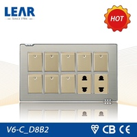 Classic design Metal plate wall switch socket pakistan