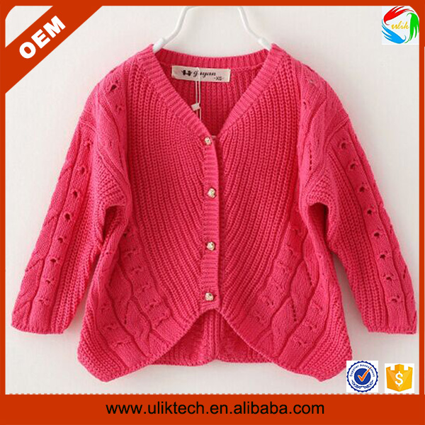 2016 New arrival hand-made sweater design for kid wear spring child clothes wholesale cardigan baby sweater design (ulik-S071)
