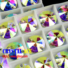 Hot Selling China Manufacturer crystal sew on stones flat back with 2 holes