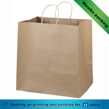 High Quality Hot Sale Bulk Brown Recycled Kraft Paper Bag for Garment