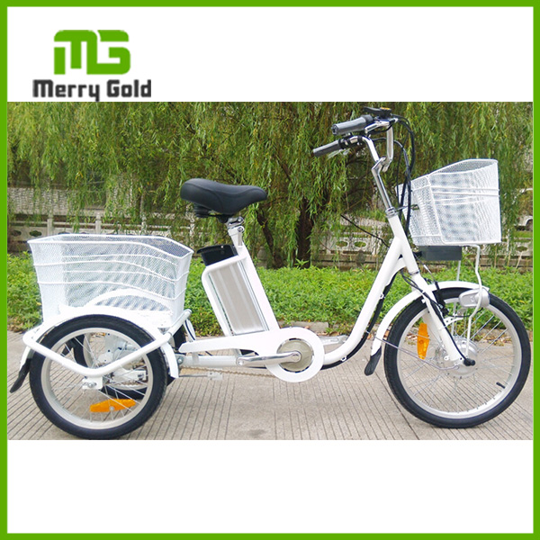 250W brushless three Wheel electric bike tricycle for cargo