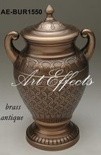 Solid Brass Handcrafted Funeral Urn