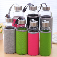Promotional Gift Insulated Neoprene Cover 750ml Glass Water Bottle