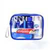 hot new small transparent pvc travel packaging bag with zip