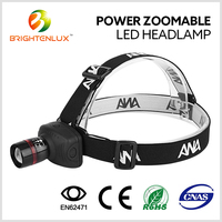 Factory Supply Multi-functional Coal Mining 3*AAA Aluminum ABS Material 3watt High Power Cree Zoom Headlamp Headlight led