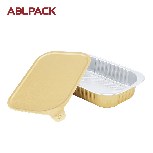 ABL 320ML/10.7oz Aluminum Food Containers Foil Disposable Bowls Microwavable Steaming Containers