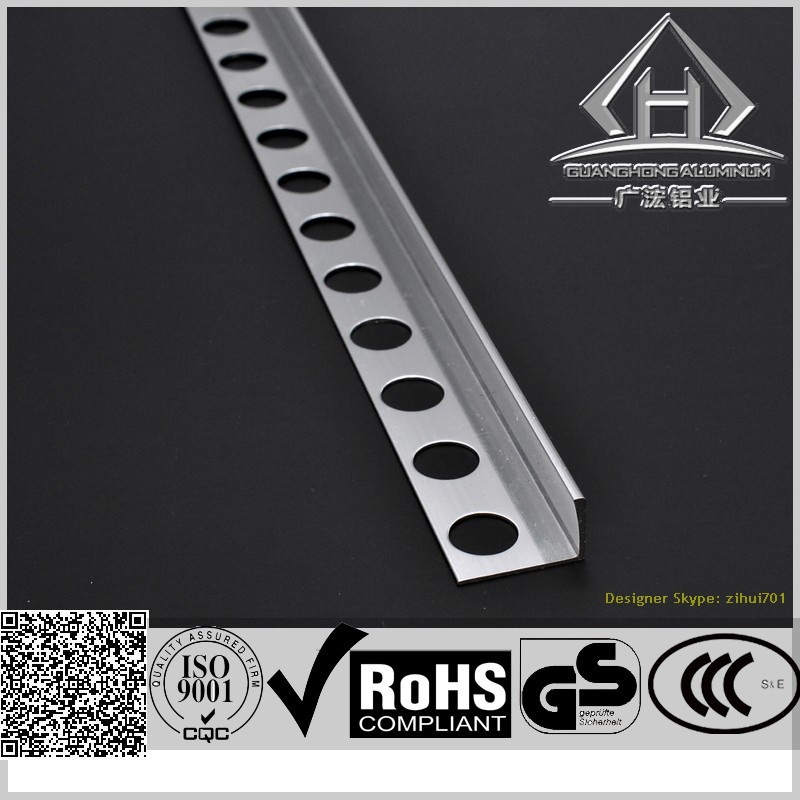 Chromed anodizing Aluminum tile edge trim