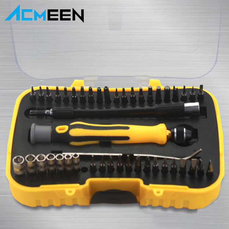 Multi-function 45 in 1 Mini precision magnetic screwdriver tool set for household tool set, phone computer repair tool kit
