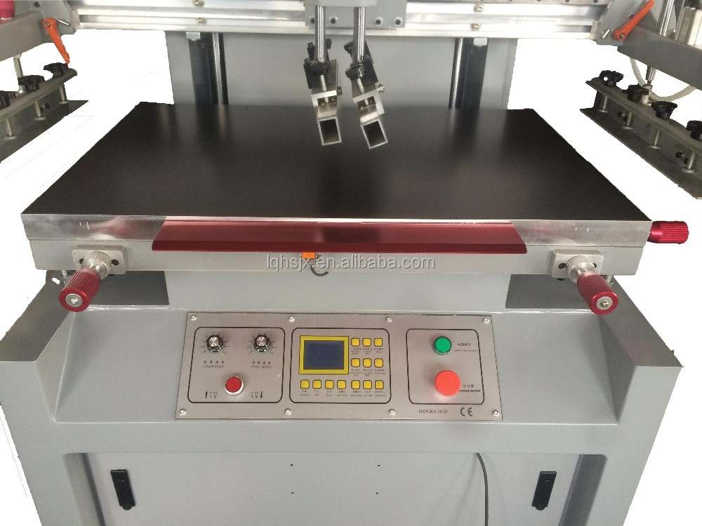 China hot sale colorful Semi Auto Electric flat bed screen printing machine for sale