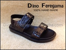 leather sandals men Russia design italy model genuine cow leather for man sandal
