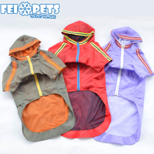 High quality large pet hood raincoat dog raincoat for large dog wholesale