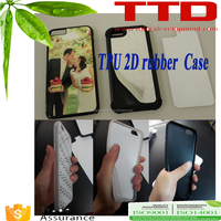 heat press printing for iphone6 pc+tpu 2d sublimation phone case