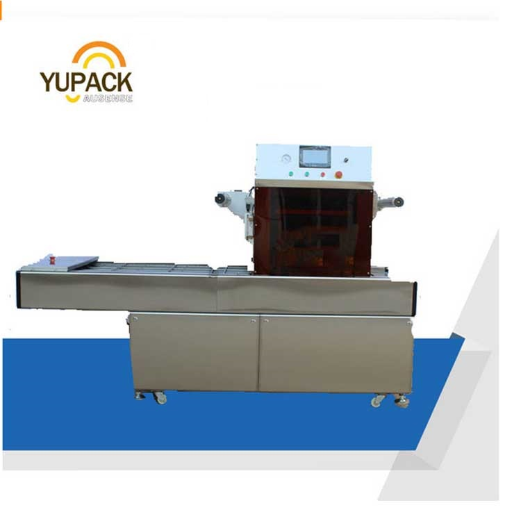 Continuous preservation type tray sealer vacuum packaging machine