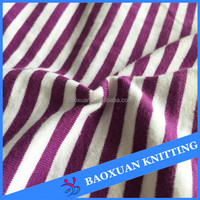100 cotton soft breathable yarn dye stripe knited jersey fabric spandex dress