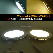 updated dimmable led flat panel 9w-32w dimmable mini round / square flat led panel light 300x300