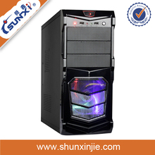 Hot delicate cool atx desktop computer case with lcd temperature display and power supply