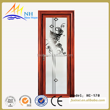 China gold supplier high quality sound proof aluminum casement door for bathroom