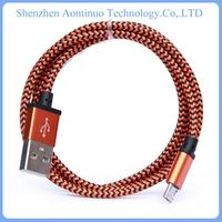 2015 hottest lustrous 2 in 1 data cable charging cable mobile auto data link cable for Nokia Phone Samsung Charger