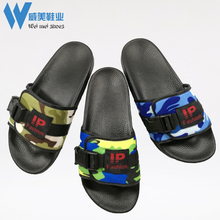 Multi-color camouflage pcu ladies slippers creative shoes