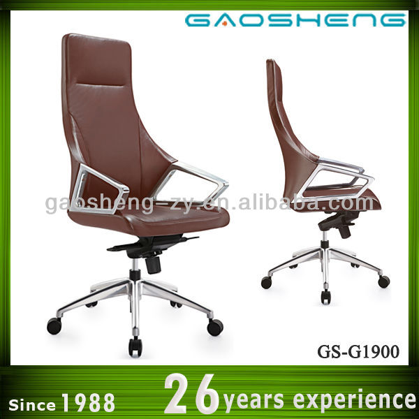 ergonomic high back brown leather executive chair for office GS-1900