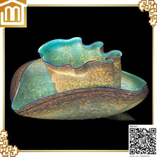 Hand made blown art diy colored large decorative textured bowl set nectar collector glass