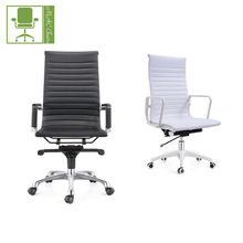 ISO9001:2008 certificated High quality cheap leather swivel faux leather slim office chair
