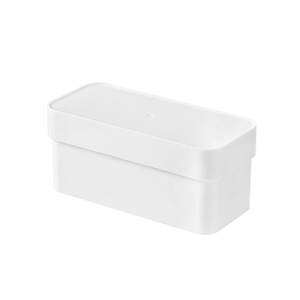 Home Kitchen Bathroom rectangle white Hanging Wall Plastic garbage bag storage box