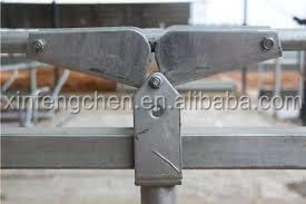 galvanized cow farm equipment cow headlock